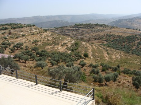 West Bank hills, as viewed from Nabi Saleh, like those Mannes-Abbott atte