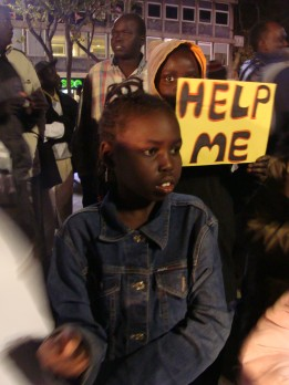 South Sudanese girl facing deportation from Israel to South Sudan (photo: Mya Guarnieri)