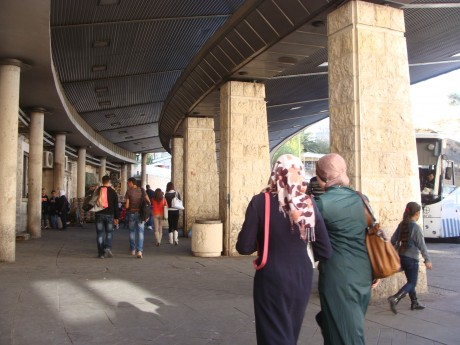Palestinian women face difficulties getting to school because of Israeli restrictions on freedom of movement (photo: Mya Guarnieri)